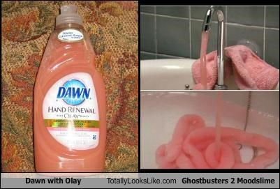 "Dawn With Olay Totally Looks Like ""Ghostbusters 2"" Mood Slime"