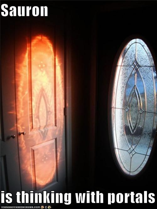 Sauron  is thinking with portals