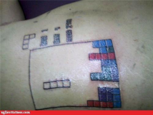 bad,tattoos,tetris,funny,g rated,Ugliest Tattoos
