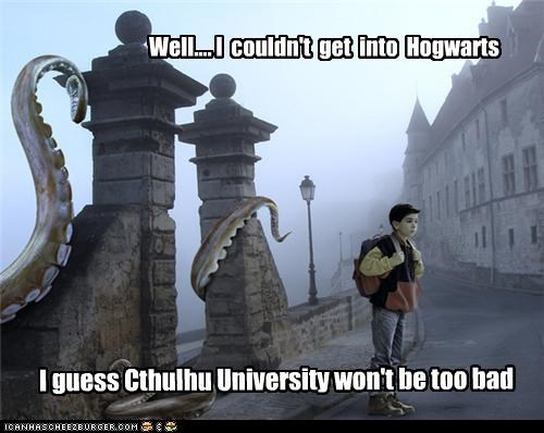 Well.... I  couldn't  get  into  Hogwarts