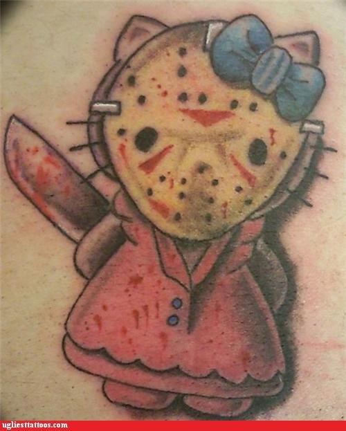 animals,bloodnguts,cartoons,Cats,hello kitty,horror films,movies,pop culture,weaponry