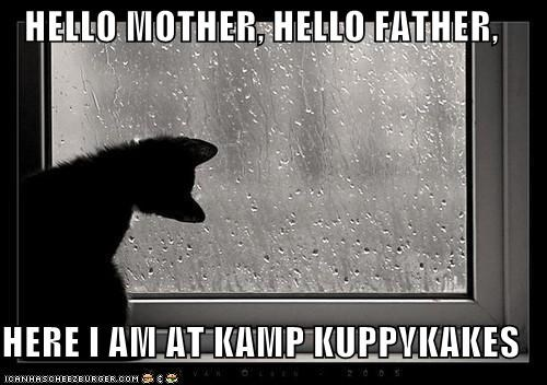 HELLO MOTHER, HELLO FATHER,  HERE I AM AT KAMP KUPPYKAKES