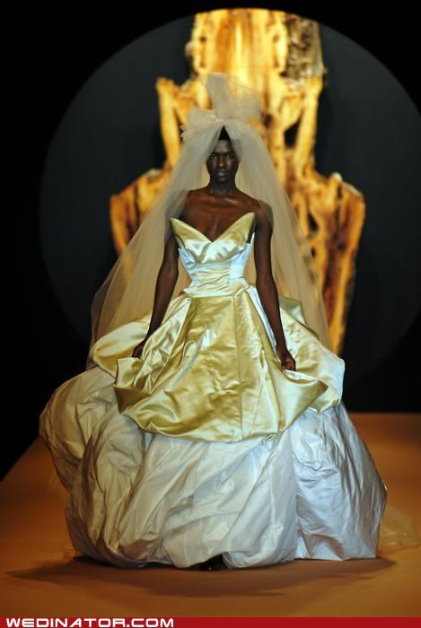 bridal fashion,funny wedding photos,poll,pretty or not,runway