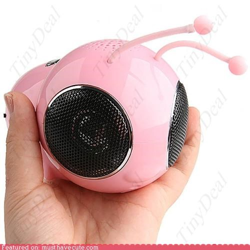 bee,electronics,Music,pink,sound,speaker