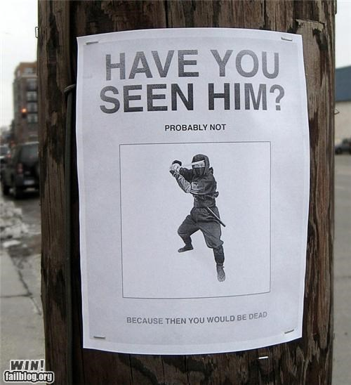 clever,ninja,poster,sign,wantd