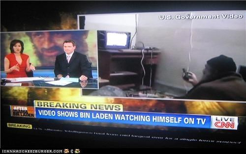 A  Video  of Bin Laden  Watching a Video of Bin Laden?