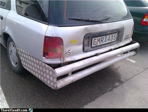 bumper repair,cars,metal,Sweden,wtf