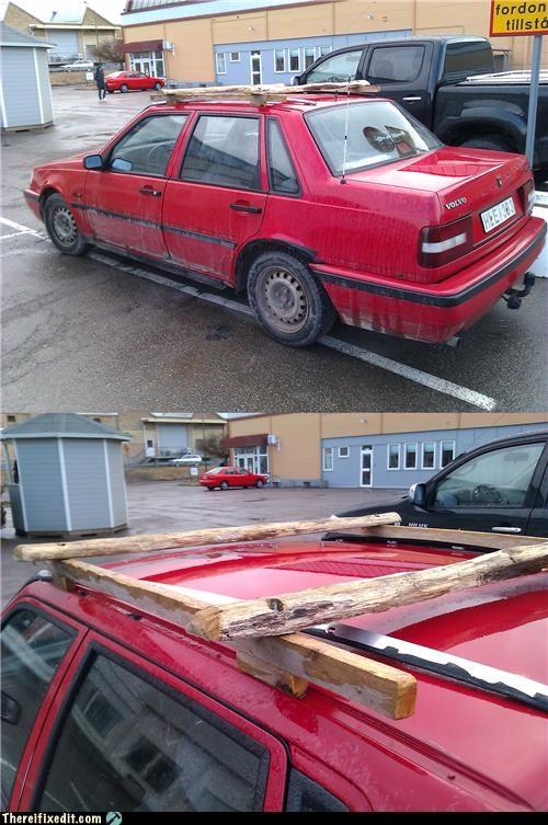 cars,europe,roof rack,Sweden,wood,woody
