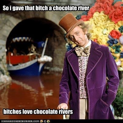 Chocolate rivers