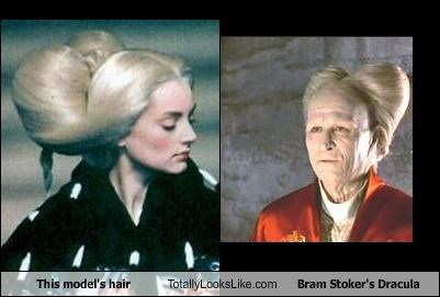 This Model's Hair Totally Looks Like Bram Stoker's Dracula
