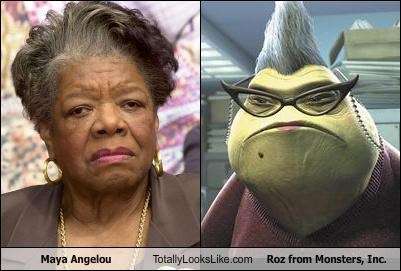"Maya Angelou Totally Looks Like Roz from ""Monsters, Inc."""