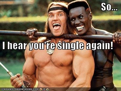 So... I hear you're single again!