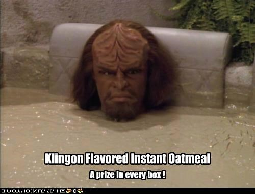 Klingon Flavored Instant Oatmeal