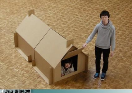 cardboard,house,temporary,tent