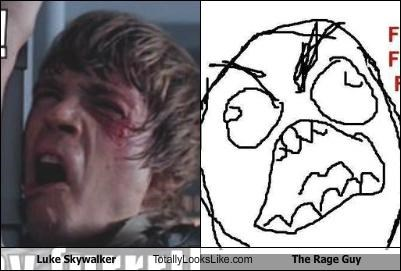 Luke Skywalker Totally Looks Like The Rage Guy