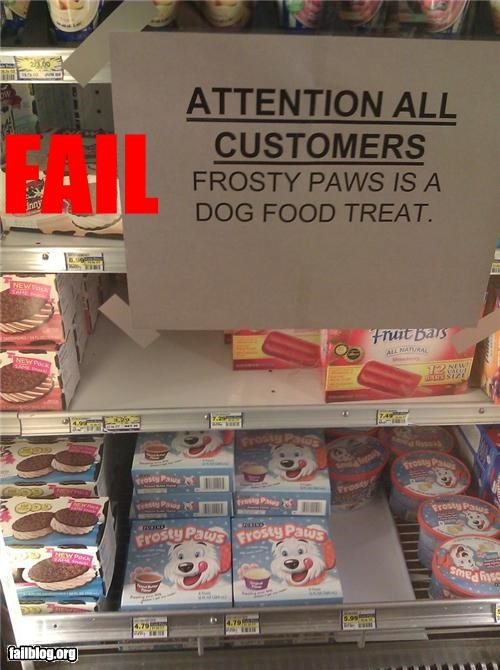 dog food,failboat,food,g rated,gross,ice cream,label,product name,signs
