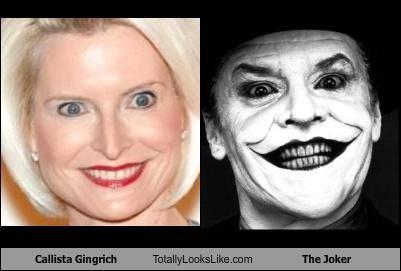 Callista Gingrich Totally Looks Like The Joker