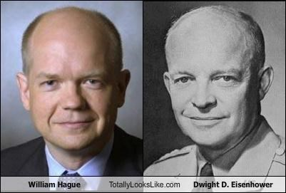 William Hague, Secretary of State for Foreign Affairs and Commonwealth Affairs Totally Looks Like President Dwight D. Eisenhower