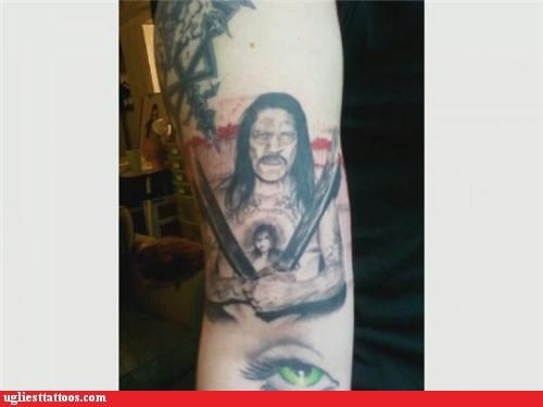 tattoos,machete,funny,Danny Trejo,g rated,Ugliest Tattoos