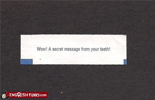 fortune,fortune cookie,secret,teeth