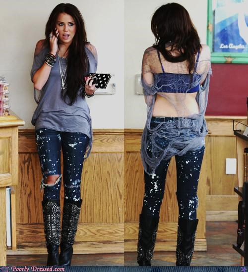miley cyrus,no back,ripped jeans,testingzone