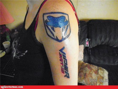 wtf,viper,cars,tattoos,snakes,funny