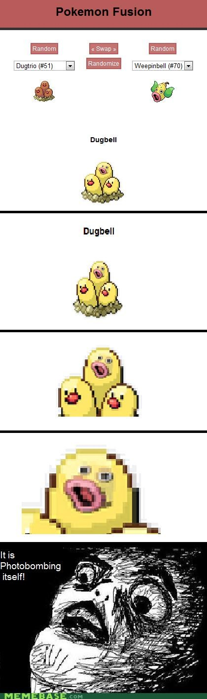 dugtrio,fusion,lol face,photobomb,Pokémemes,Pokémon,raisins-super-fuuuu,weepingbell