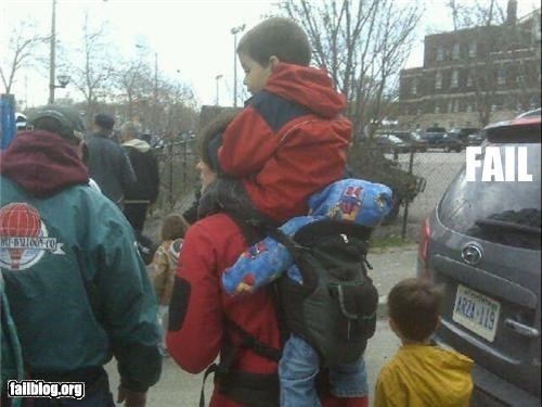 Babies,failboat,g rated,kids,parenting,Parenting Fail,piggyback ride