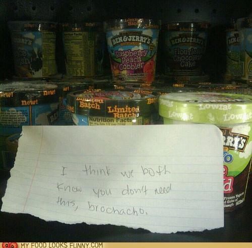 advice,case,freezer,ice cream,Sad,store,warning