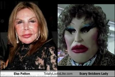 Elsa Patton Totally Looks Like Scary Snickers Lady