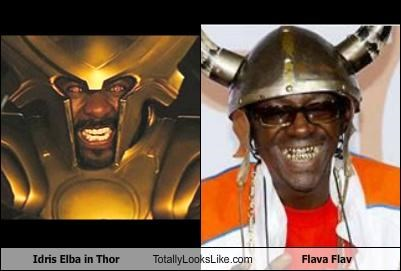 "Idris Elba in ""Thor"" Totally Looks Like Flava Flav"