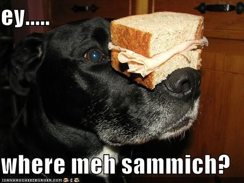 ey.....  where meh sammich?