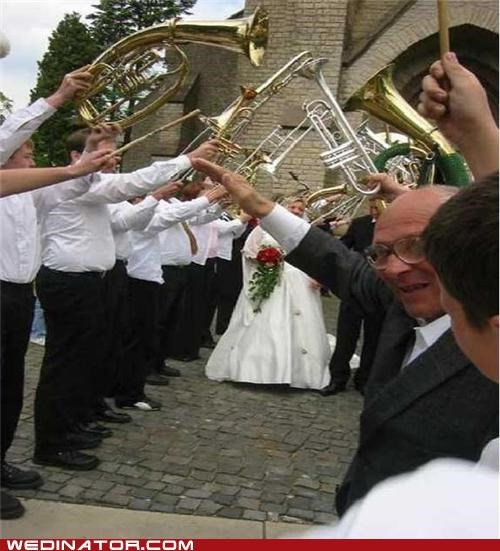 funny wedding photos,Grandpa,musical instruments,old people