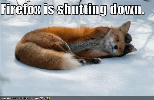 Firefox is shutting down.