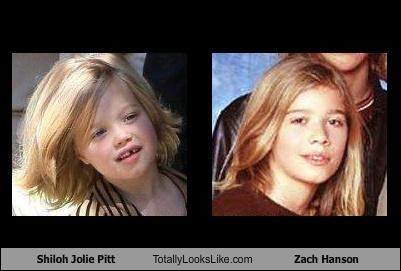 Angelina Jolie,brad pitt,Hanson,kids,musicians,shiloh jolie-pitt,Zach Hanson