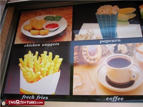 menu,misspelling,restaurant