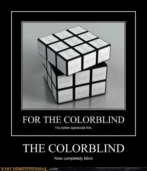 blind,colorblind,hilarious,rubix cube