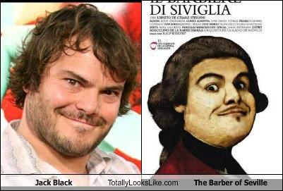 "Jack Black Totally Looks Like ""The Barber of Seville"" Cover"