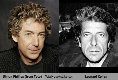 Simon Phillips (from Toto) Totally Looks Like Leonard Cohen