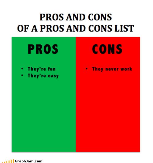 cons,list,pros