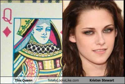 actresses,cards,kristen stewart,queen,queen of hearts