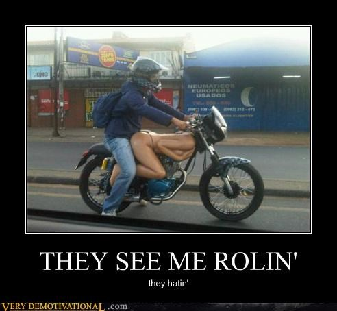 hilarious,motorcycle,rollin,Sexy Ladies