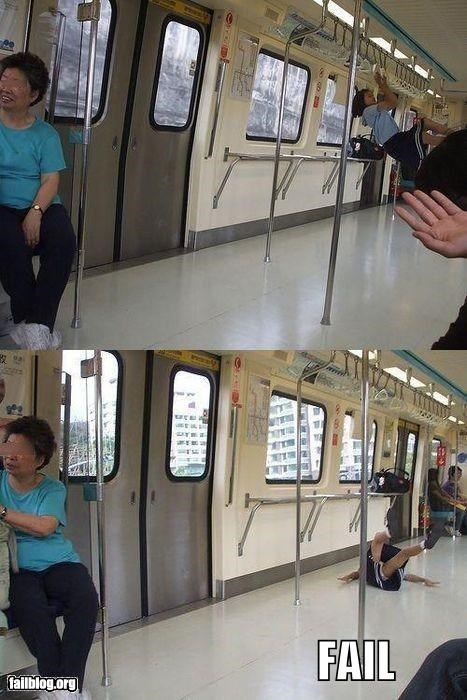 Showing Off on the Subway FAIL