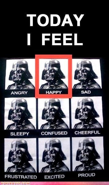 The Darth Vader Emotion Chart