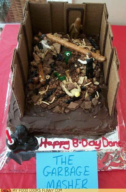 cake,characters,garbage masher,monster,scene,star wars