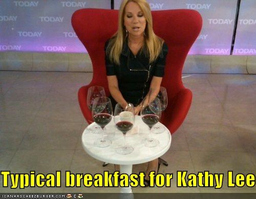 Typical breakfast for Kathy Lee