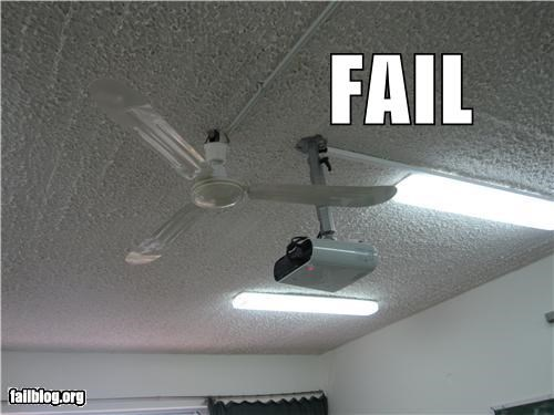 Projector Location FAIL