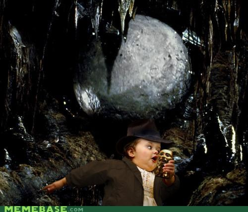 boulder,bubbles,frogman,Indiana Jones,Memes,movies,raiders