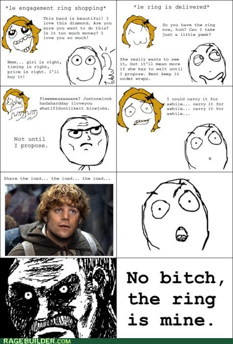 engagement,Rage Comics,Sam,the ring