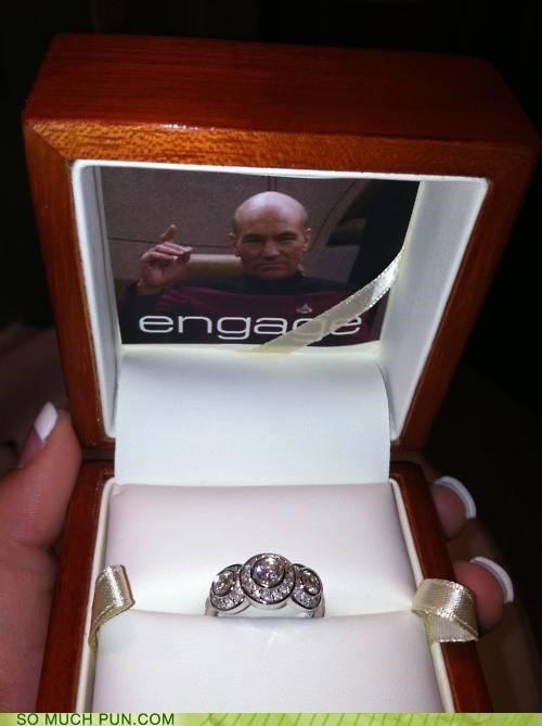 awesome,Command,double meaning,engage,engagement ring,jean-luc picard,picard,proposal,proposing,Star Trek,wedinator
